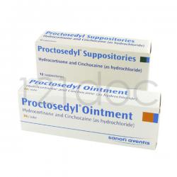 Proctosedyl 5mg (Suppositories) x 12